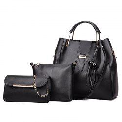 Wild Ladies Fashion Hand-Held Diagonal Tassel Tidal Bag -