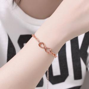 Classic Adjustable Alloy Chain Bracelet Charm Jewelry Gift for Women -