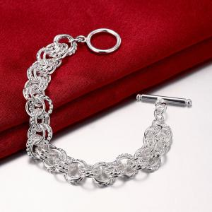 Alloy Ring Chain Bracelet Charm Jewelry Gift for Women -