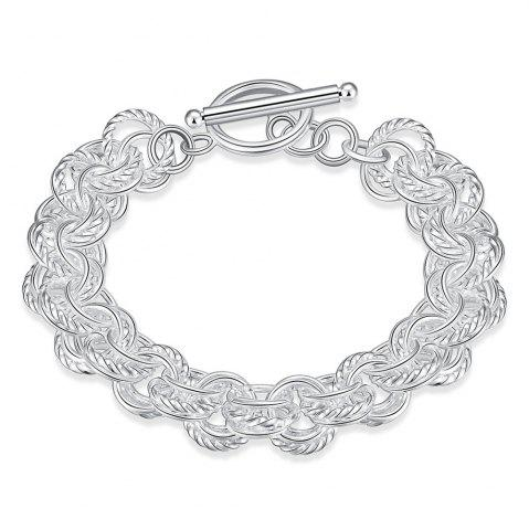 Cheap Alloy Ring Chain Bracelet Charm Jewelry Gift for Women
