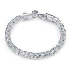 Korean Style Alloy Chain Bracelet Charm Jewelry Gift for Women -
