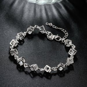 Romantic Alloy Rhinestone Chain Bracelet Charm Jewelry -