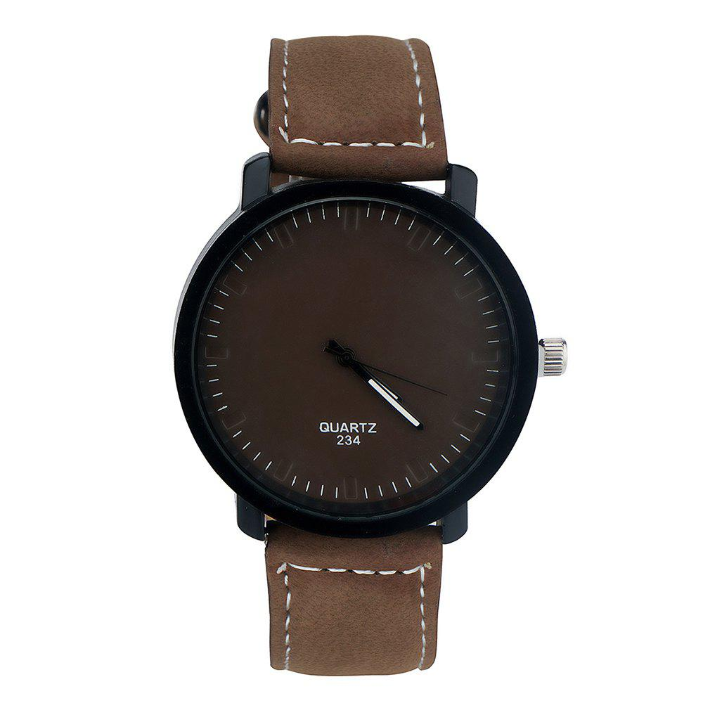 Trendy Simple Fashion PU Band Men Watch