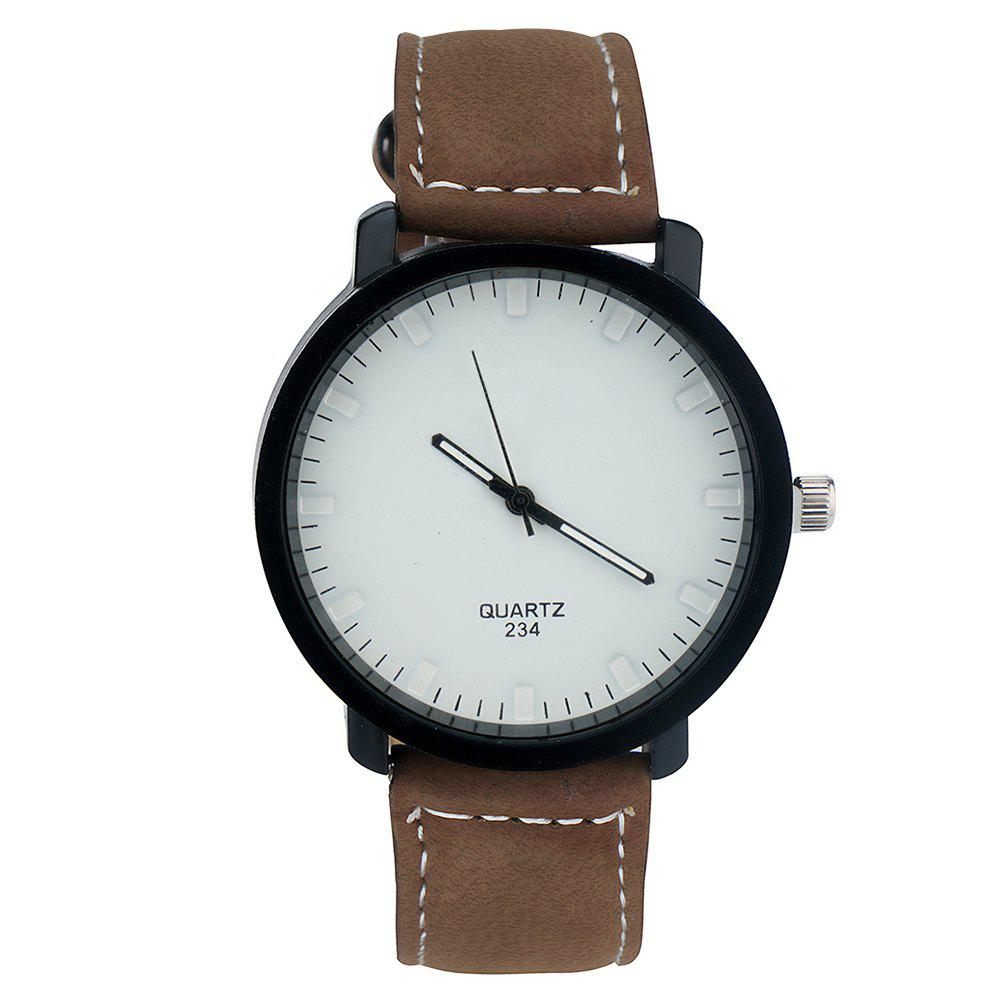 Affordable Simple Fashion PU Band Men Watch