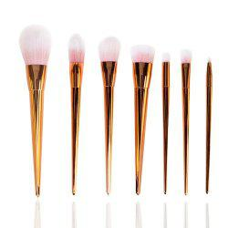 7 PCS Plastic Handle Make Up Brush Suit -