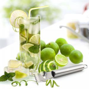 Fruit Peelers Lemon Orange Zester Grater Stainless Steel Grips Lime Zest Peeling Tool -