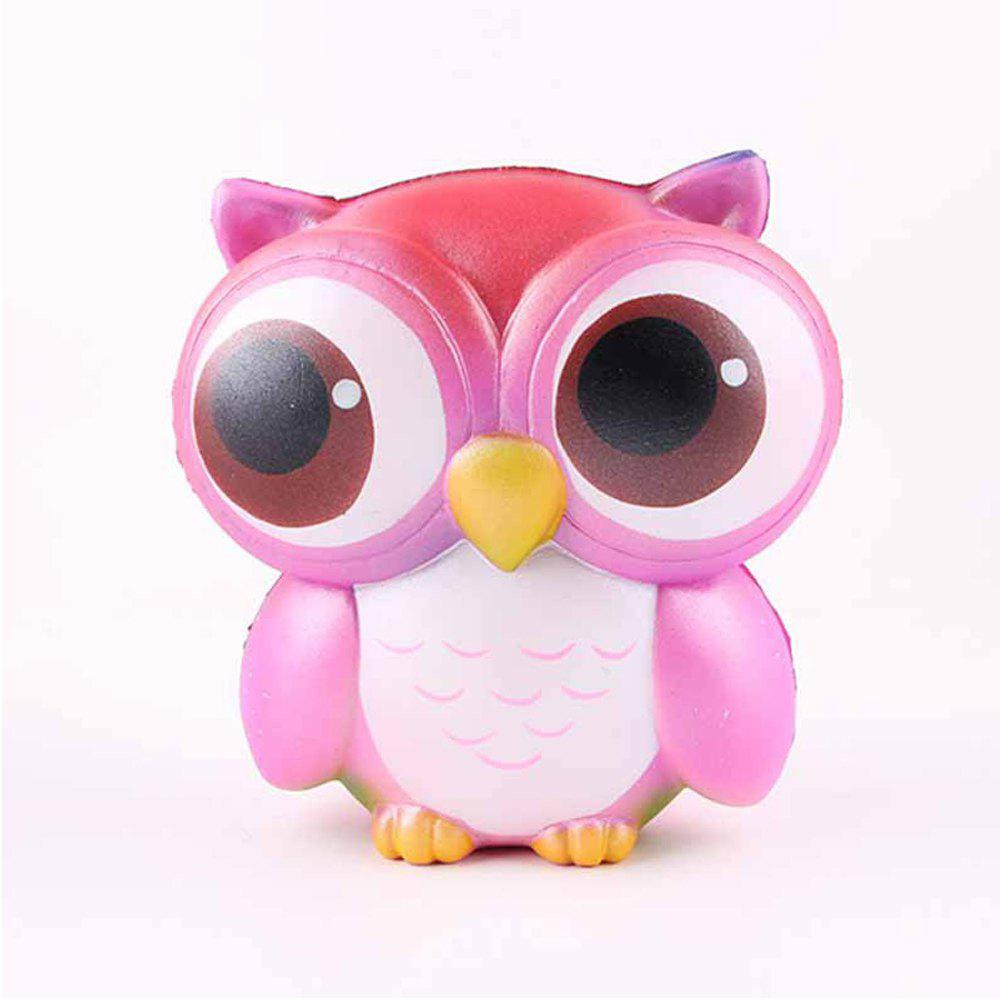 Store Jumbo Squishy Squeeze PU Owl Packaging Collection Gift Soft Toy