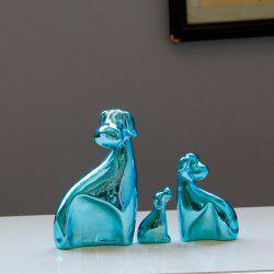 3PCS/SET Simple Modern Ceramic Dog Sitting Room Bedroom Home Decoration Birthday Gift -