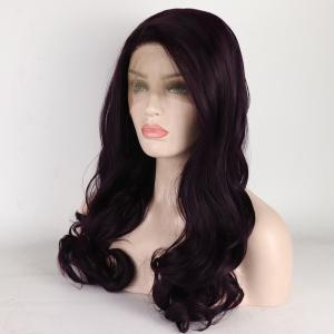 Long Brown Curly heat Resistant Synthetic Hair Lace Front Wigs for Women -