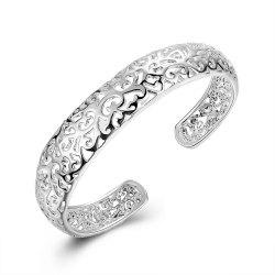 Alloy Hollow Out Bangle Opening Bracelet Charm Jewelry -