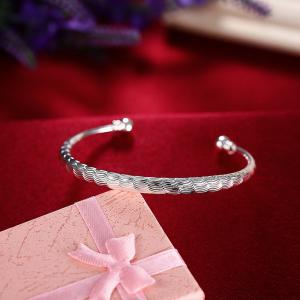 Fashion Circular Alloy Bangle Opening Bracelet Charm Jewelry -