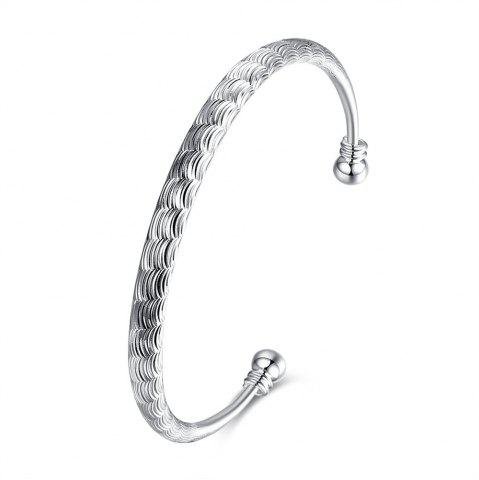 Affordable Fashion Circular Alloy Bangle Opening Bracelet Charm Jewelry