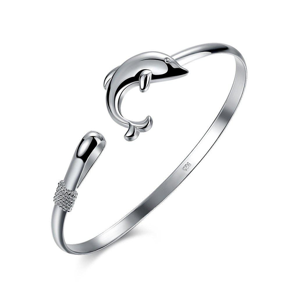 Store Fashion Design Dolphin Shape Alloy Bangle Charm Jewelry