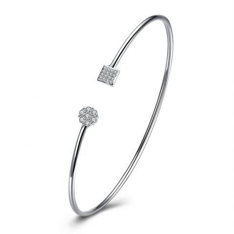 Chic Alloy Zircon Bangle Opening Bracelet Charm Jewelry