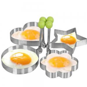 4 PCS Fried Egg Mold Stainless Steel Pancake Ring Kitchen Tool -
