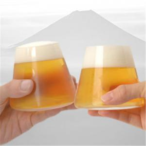 Glass Beer Cup Transparent Beverage Cup -