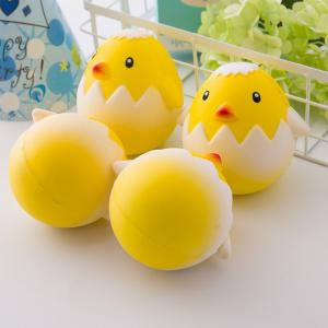 Jumbo Squishy Squeeze PU Chick with A Broken Shell Collection Gift Soft Toy 1PC -
