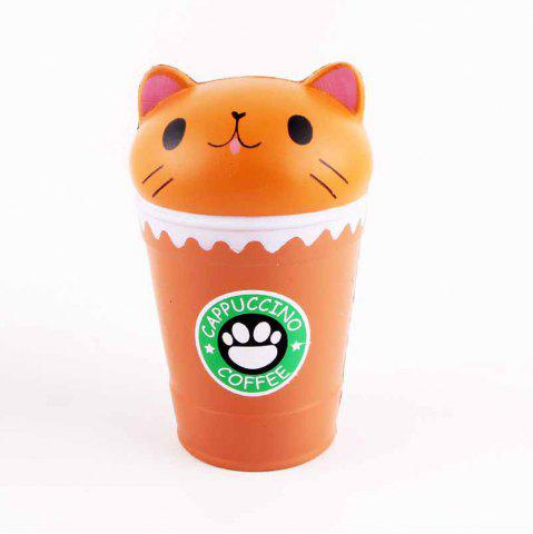 Buy Jumbo Squishy Squeeze Coffee Cups Cat PU Collection Gift Soft Toy