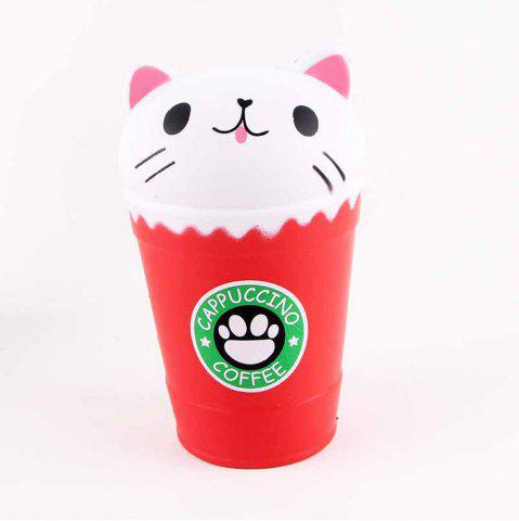 New Jumbo Squishy Squeeze Coffee Cups Cat PU Collection Gift Soft Toy