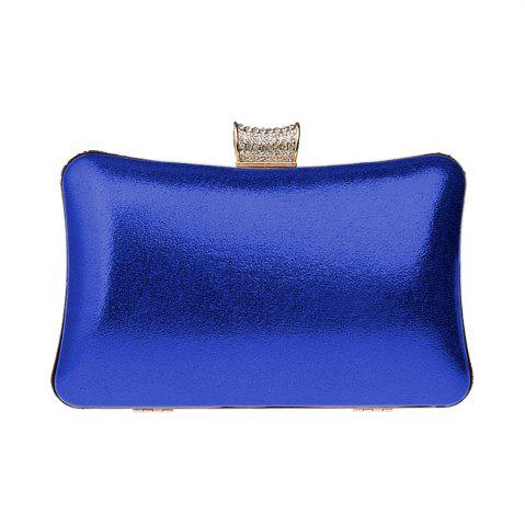 Hot Women Leatherette Evening Bag Buttons Crystal Detailing Wedding Event Party