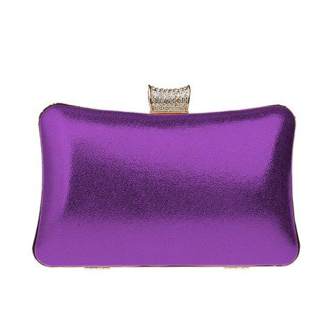 Latest Women Leatherette Evening Bag Buttons Crystal Detailing Wedding Event Party