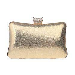 Women Leatherette Evening Bag Buttons Crystal Detailing Wedding Event Party -