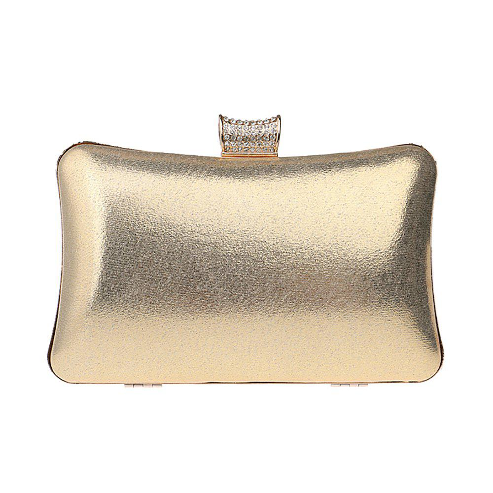 Fancy Women Leatherette Evening Bag Buttons Crystal Detailing Wedding Event Party
