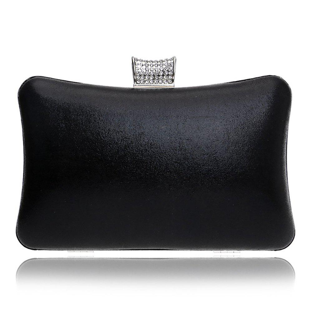 Shop Women Leatherette Evening Bag Buttons Crystal Detailing Wedding Event Party