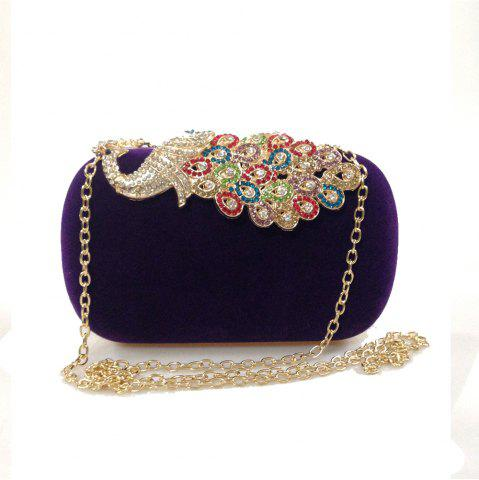 Hot Women Bags Velvet Evening Bag Buttons Crystal Detailing Wedding Event Party Formal