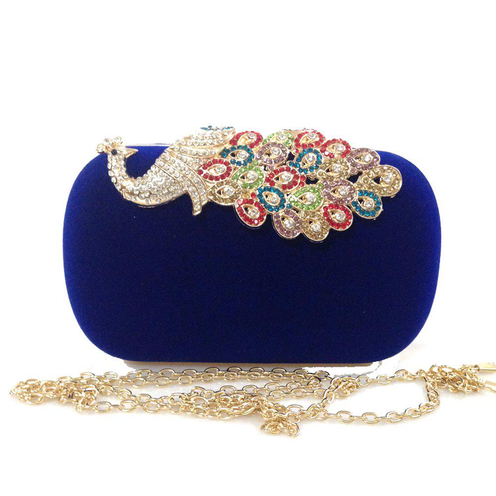 Buy Women Bags Velvet Evening Bag Buttons Crystal Detailing Wedding Event Party Formal