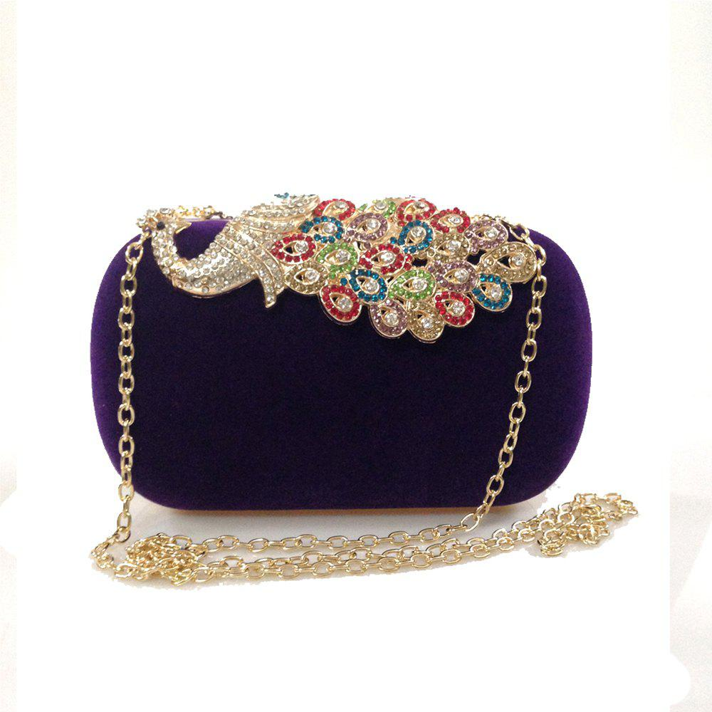 Hot Women Bags   Evening Bag Buttons Crystal Detailing Wedding Event Party Formal