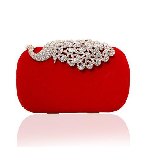 Chic Women Clutch Bags Velvet Evening Bag Buttons Crystal Detailing Wedding Event Party Formal