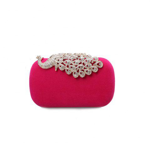 Outfits Women Clutch Bags Velvet Evening Bag Buttons Crystal Detailing Wedding Event Party Formal