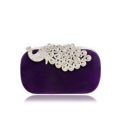 Women Clutch Bags Velvet Evening Bag Buttons Crystal Detailing Wedding Event Party Formal -