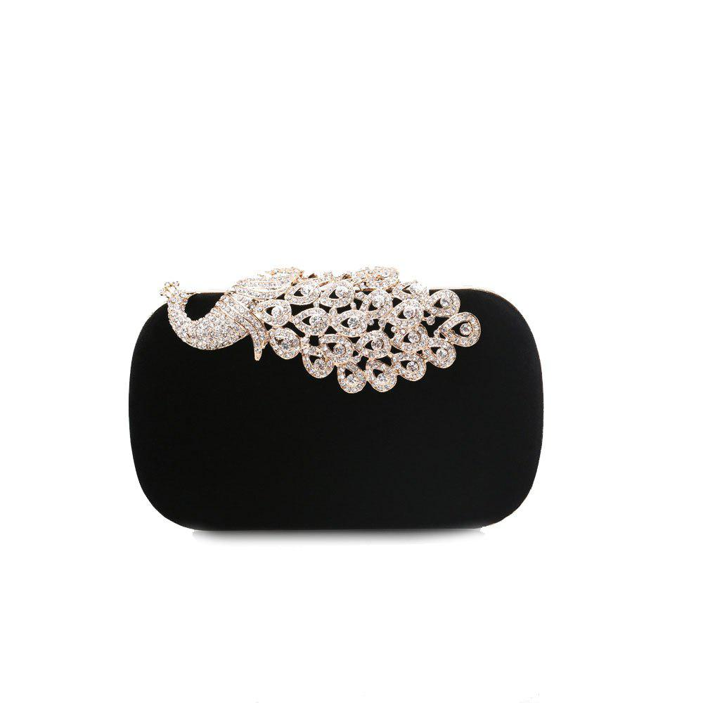 Latest Women Clutch Bags Velvet Evening Bag Buttons Crystal Detailing Wedding Event Party Formal