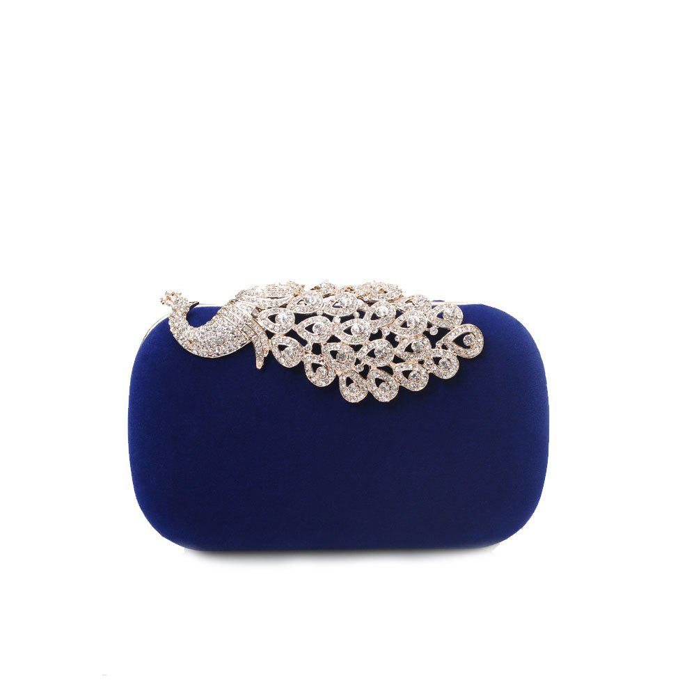 New Women Clutch Bags Velvet Evening Bag Buttons Crystal Detailing Wedding Event Party Formal