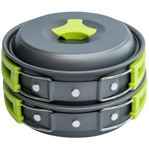 Online Outdoor Cookware Set Cooking Utensils Lightweight Compact Pot Pan Bowls for Camping Hiking Backpacking Picnic
