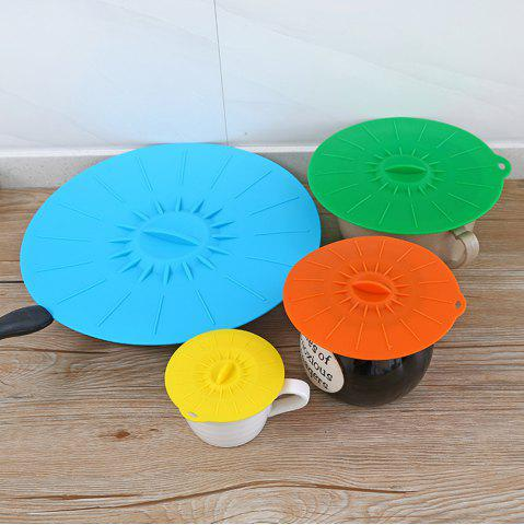 Trendy Universal Silicone Suction Lid-Bowl Pan Cooking Pot Lid-Silicon Stretch Cover Kitchen