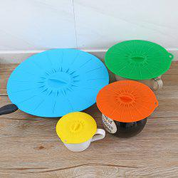 Leak Proof Silicone Pot Lid Kitchen Gadgets 5pcs -