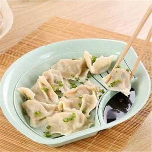Sector Plate Capable of Draining Degradable Dumplings -