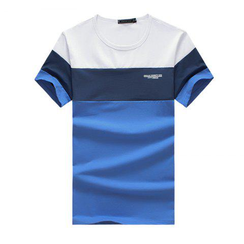 Sale New Men's Summer New Fashion Patchwork Short Sleeve T Shirt