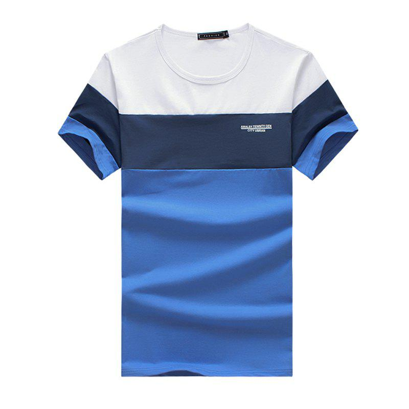 Fashion New Men's Summer New Fashion Patchwork Short Sleeve T Shirt