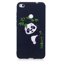 Relief Silicone Case for Huawei P8 Lite 2017 Bamboo Panda Pattern Soft TPU Protective Back Cover -