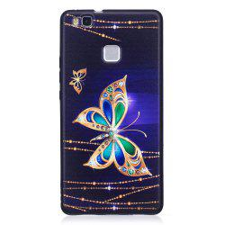 Relief Silicone Case for Huawei P9 Lite Large Butterfly Pattern Soft TPU Protective Back Cover -