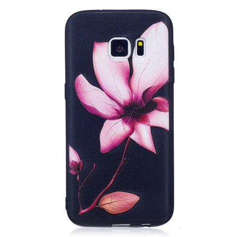 Affordable Relief Silicone Case for Samsung Galaxy S7 Lotus Pattern Soft TPU Protective Back Cover