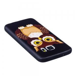 Relief Silicone Case for Samsung Galaxy S7 Owl Pattern Soft TPU Protective Back Cover -