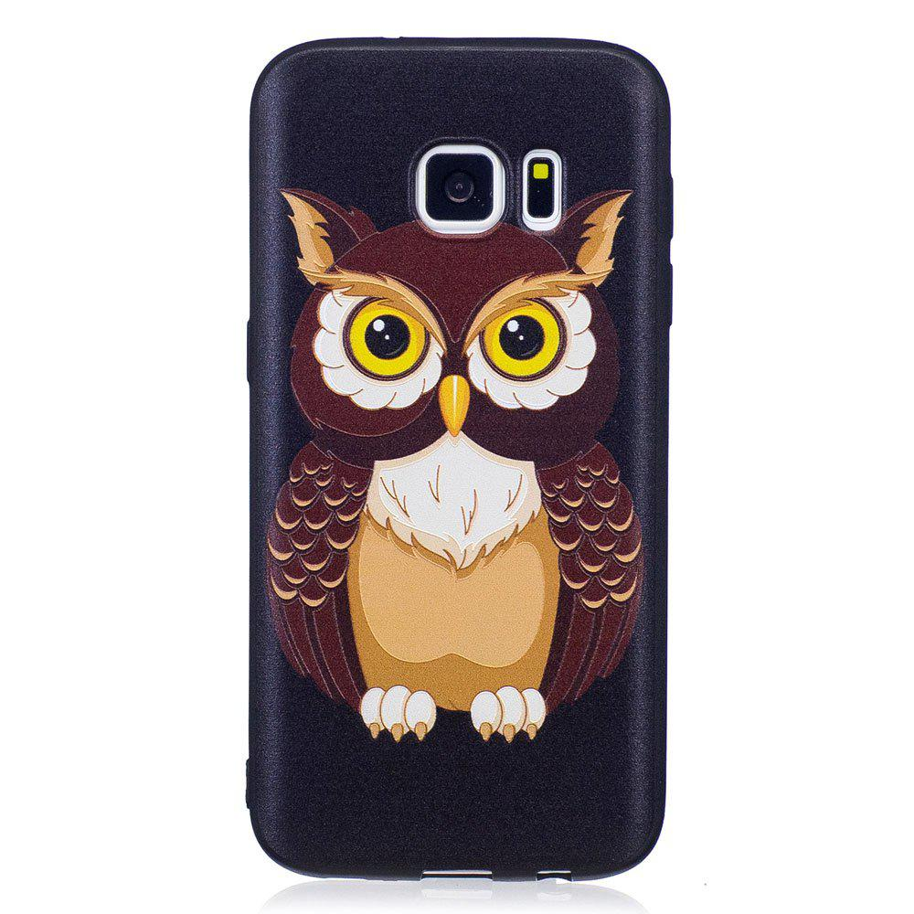 Buy Relief Silicone Case for Samsung Galaxy S7 Owl Pattern Soft TPU Protective Back Cover