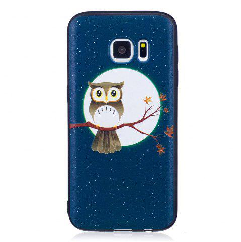 Trendy Relief Silicone Case for Samsung Galaxy S7 Moon and Owl Pattern Soft TPU Protective Back Cover