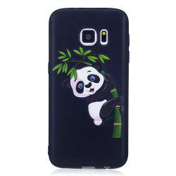 Relief Silicone Case for Samsung Galaxy S7 Bamboo Panda Pattern Soft TPU Protective Back Cover -