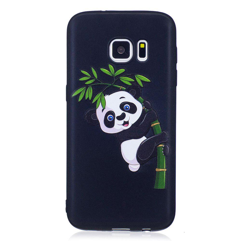 New Relief Silicone Case for Samsung Galaxy S7 Bamboo Panda Pattern Soft TPU Protective Back Cover